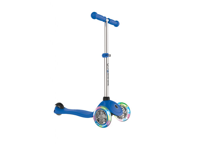 Globber Primo Lights Scooter with battery-free LED wheels Kids navy blue